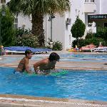 pool water is very clean