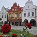 A view of some of the Renaissance buildings of Telc.