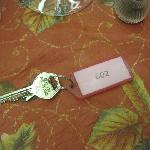 Key to my room and front door