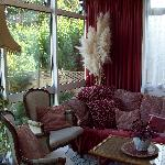 Relaxing sitting area in the conservatory