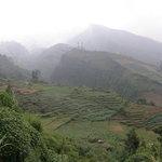 Landschaft bei Dieng