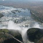 Vic falls by chopper