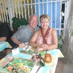 Hubby and I at LaPetit Auberge