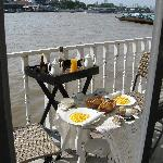 Breakfast over the Chao Praya River