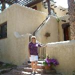 Lisa Shepherd below our private suite