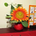 Decorative items on table