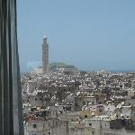 View of the Medina and Hassan II mosque from our room