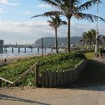 Beach front promenade close to Ushaka Marine World.