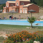 View of the accommodation and pool