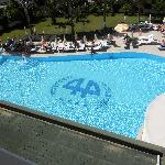 the pool view from our room.