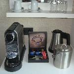 Nespresso and kettle