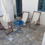 The patio area of our room