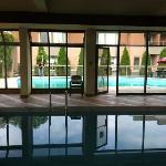 Nice indoor/outdoor pool.