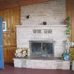 Homestead House great room fireplace