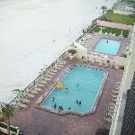 VIEW OF POOL FROM 6TH. FLOOR BALCONY