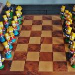 Chess table in the living room