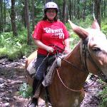 Me riding Blaze on the trail :)