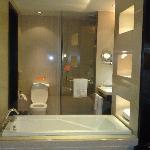 Room looking into bathroom, Cool !!