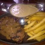 Steak with Awesome (creamy garlic) Sauce