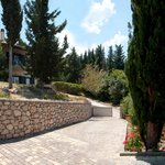 Idilli Villas Lefkada stone tiled main entrance...!!!