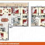 Appartement 14/16 pers. Luxe Duplex (sous toit) - 160m²