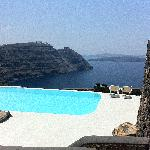 The amazing pool - view from our villa