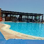 view of the pool and bar
