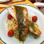 Sea bass. Delicate and delicious.