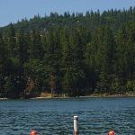 The lake is beautiful