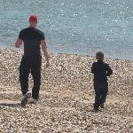 rocky beach 5 min walk