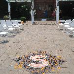 Beautiful Courtyard perfect for our ceremony