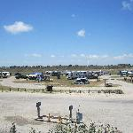The infield, RV and tent camps