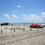 Primitive camping on the beach