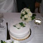 wedding cake at hotel