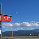 Airport Chalet Sign