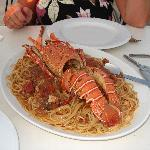 Dounias lobster and spaghetti