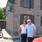 Manager Beham with inn owner Lutvi