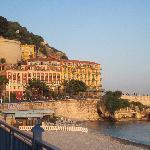 Walking back to the hotel along Promenade des Anglais