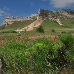 Scottsbluff, NE was named for Scott's Bluff, an Oregon Trail landmark