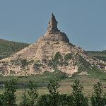 Chimney Rock is another landmark used by wagon trains passing through the area.