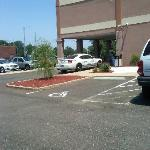 The security cameras on the back side of the hotel are a joke. This is where my car was parked.