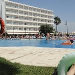 the hotel and pool