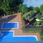 La piscina desde la habitación