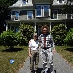 My wife and I in front of Ashmont House.