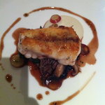 monkfish with duck and pickled mushrooms which was the highlight of the meal
