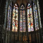 Some of the stunning stained glass inside the Cathedral