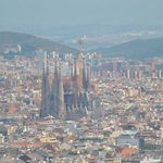 The view looking out across Barcelona at La Sagrada Family