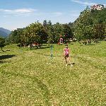 la partita a minigolf presso il Des Alpes