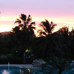 sunset from the balcony of Pelican Moon