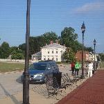 Standing on the River Walk in front of The John Parker House towards Signal House